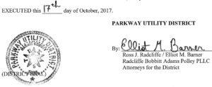 October 17, 2017 Agenda Signature