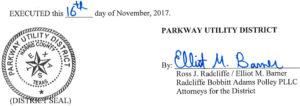 November 21, 2017 Agenda Signature