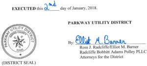 January 10, 2018 Agenda Signature