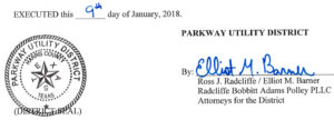 January 16, 2018 Agenda Signature