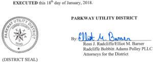 January 22, 2018 Agenda Signature