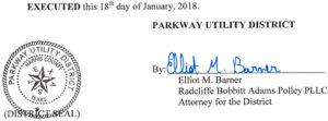January 23, 2018 Agenda Signature