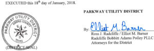 January 24, 2018 Agenda Signature