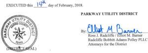 February 20, 2018 Agenda Signature