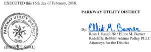 February 21, 2018 Agenda Signature