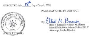 April 24, 2018 Agenda Signature