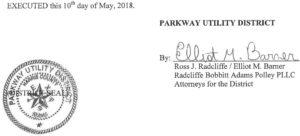 May 15, 2018 Agenda Signature