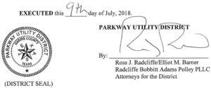 July 12, 2018 Agenda Signature