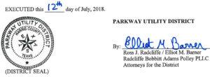 July 17, 2018 Agenda Signature