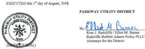 August 9, 2018 Agenda Signature