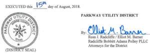 August 21, 2018 Agenda Signature