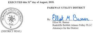 September 4, 2018 Agenda Signature