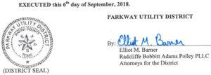 September 7, 2018 Agenda Signature