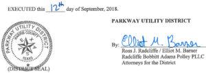 September 18, 2018 Agenda Signature