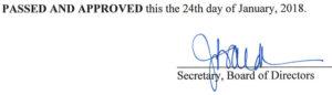 December 5, 2017 Minutes Signature