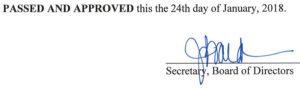 December 6, 2017 Minutes Signature