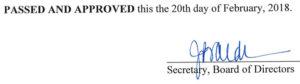 January 24, 2018 Minutes Signature