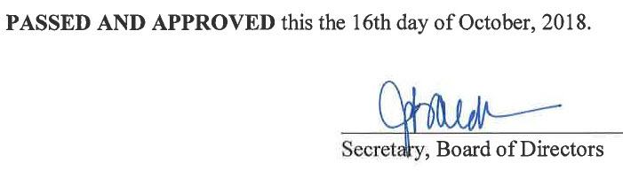 September 4, 2018 Minutes Signature