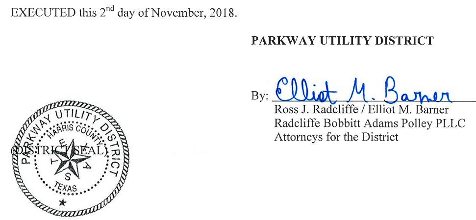 November 8, 2018 Agenda Signature