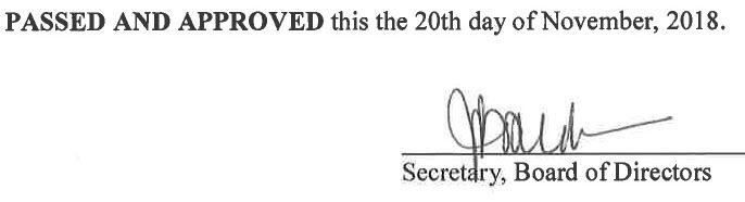 October 17, 2018 Minutes Signature