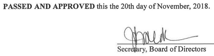 October 10, 2018 Minutes Signature