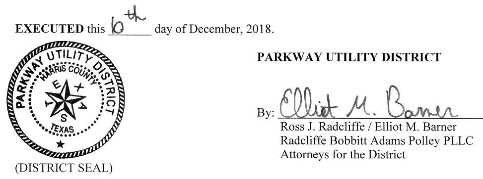 December 13, 2018 Agenda Signature