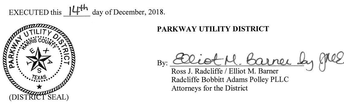 December 18, 2018 Agenda Signature