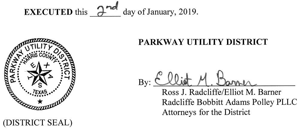 January 7, 2019 Agenda Signature