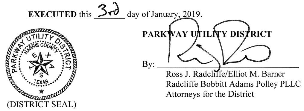 January 9, 2019 Agenda Signature