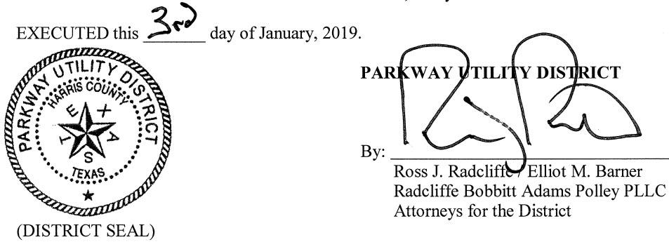 January 10, 2019 Agenda Signature