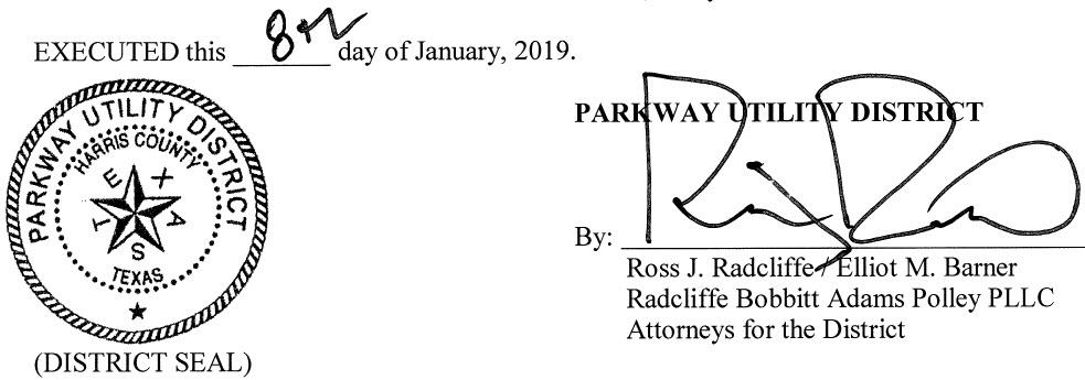 January 15, 2019 Agenda Signature