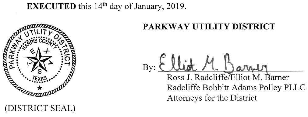 January 21, 2019 Agenda Signature