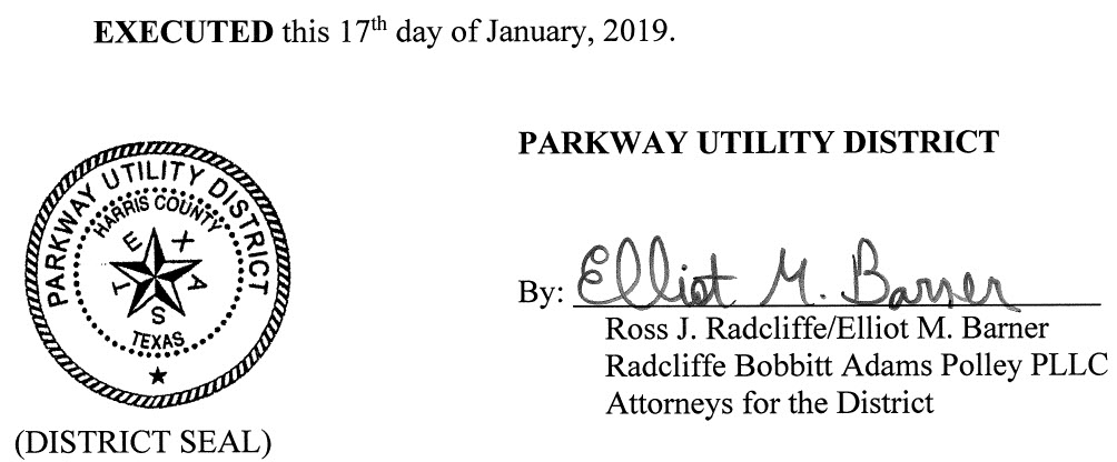 January 23, 2019 Agenda Signature