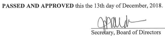 November 8, 2018 Minutes Signature