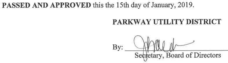 November 28, 2018 Minutes Signature
