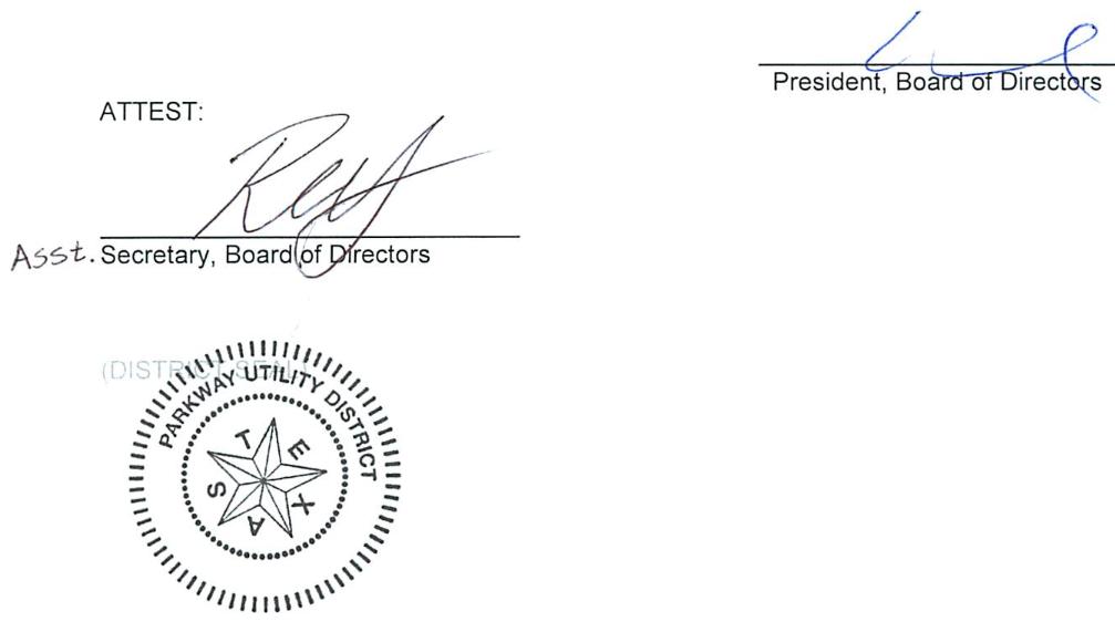 July 10, 2019 Minutes Signature