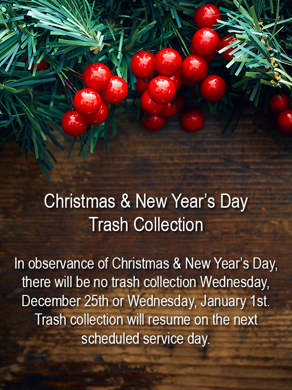 Christmas & New Year's Day Trash Collection